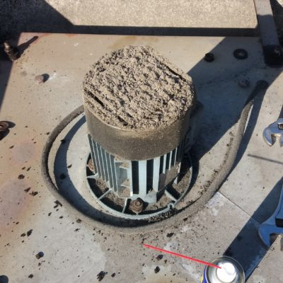 ventilateur moteur bouché